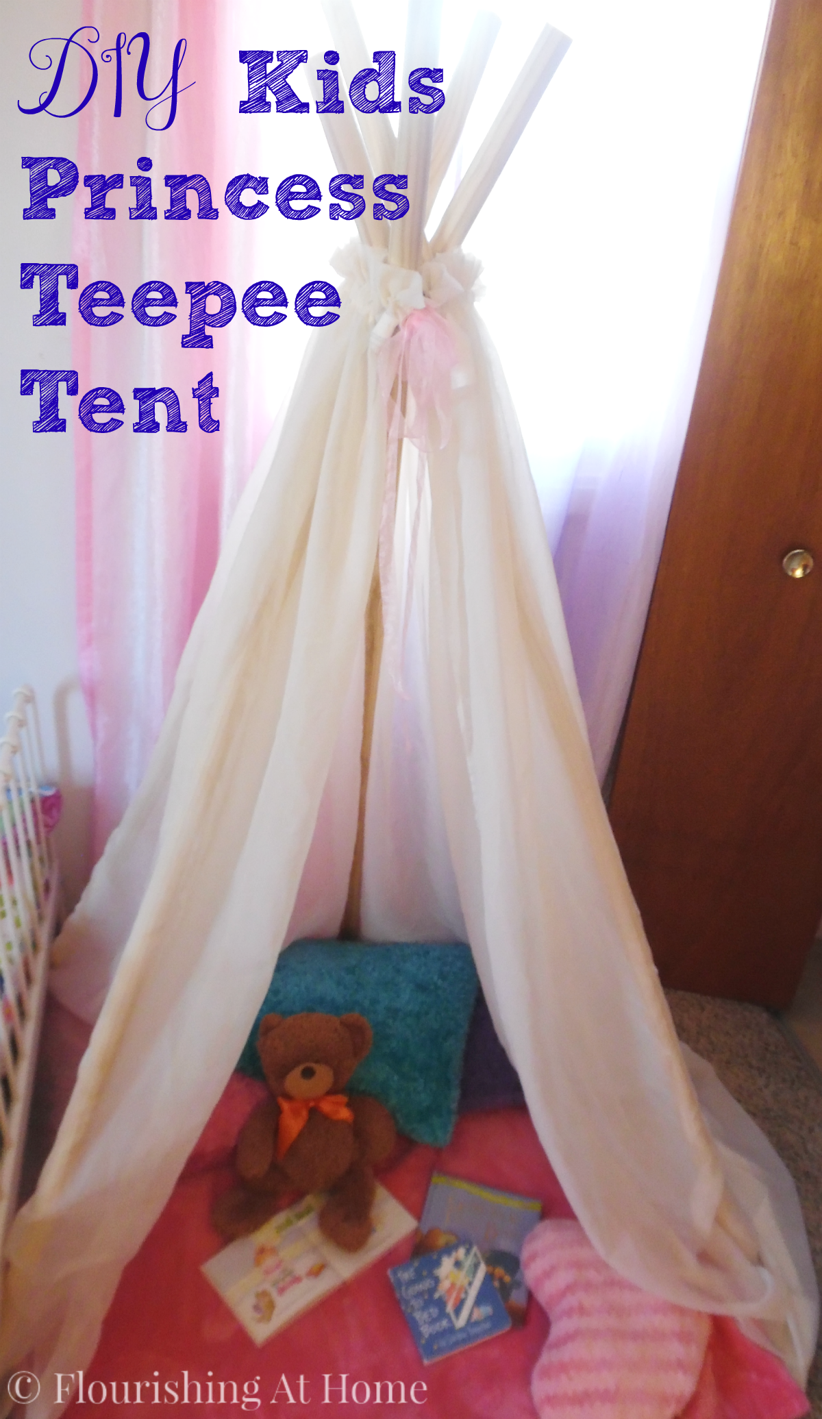& DIY Kids Princess Teepee Tent u2013 At Home With Zan