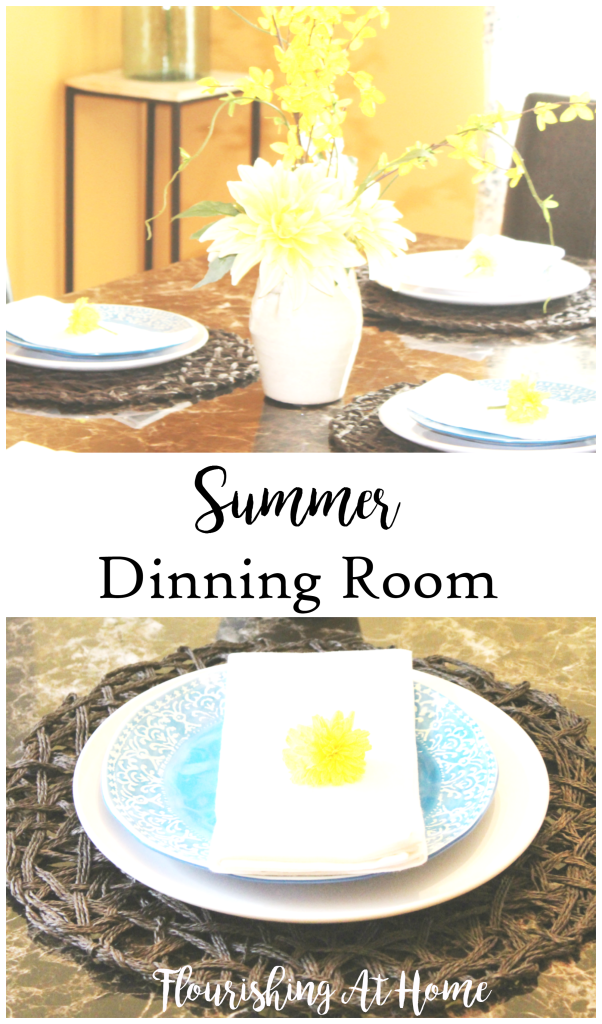 Summer Dinning Room by Flourishing At Home