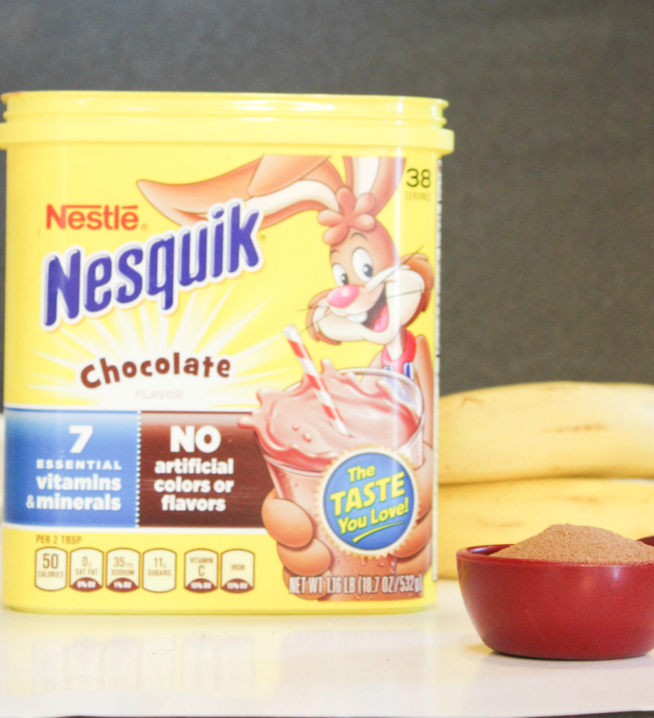 Nesquik smoothie for breakfast
