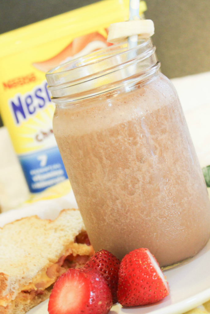 nesquik smoothie with banana