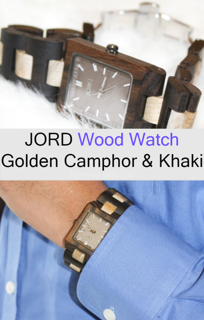 JORD Wood Watch Reece Series Golden Camphor & Khai - At Home with Zan