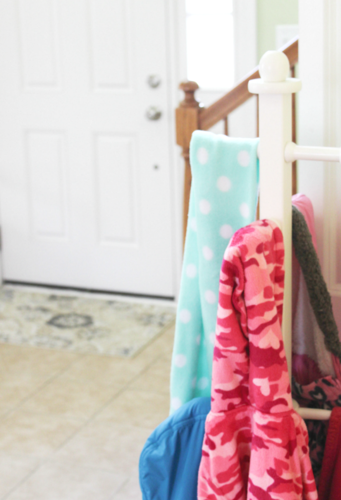 entryway organization - coat rack