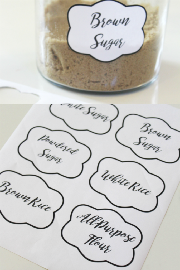 pantry food labels free printables