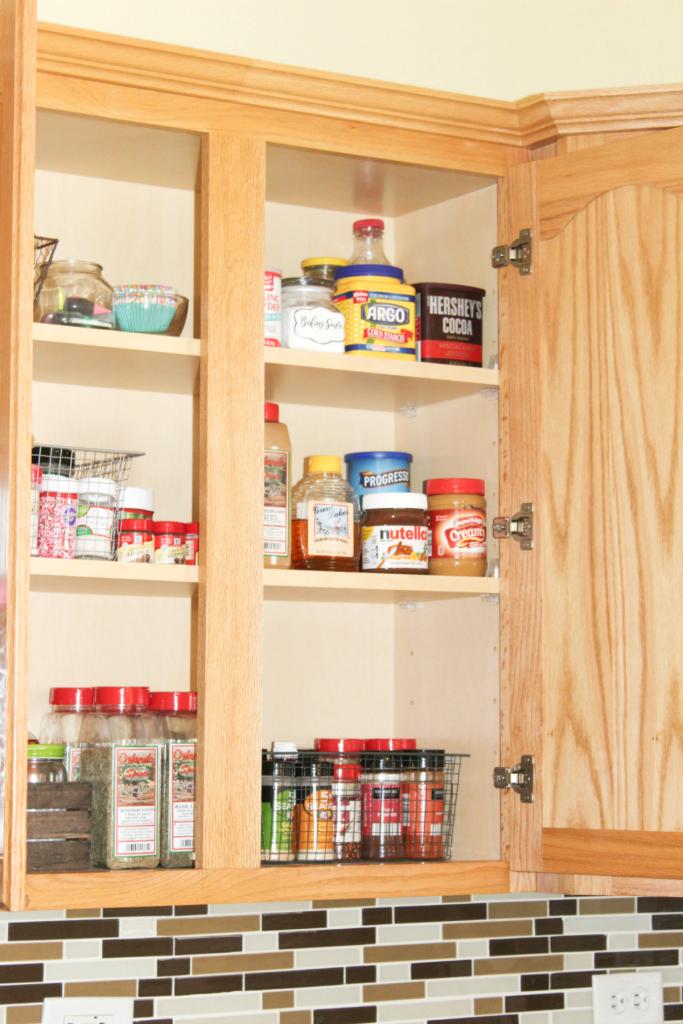 pantry organizing - cupboard organzing