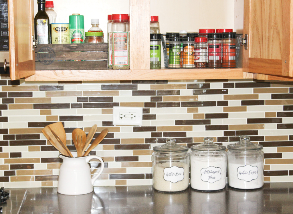 pantry organizing - with food jar labels