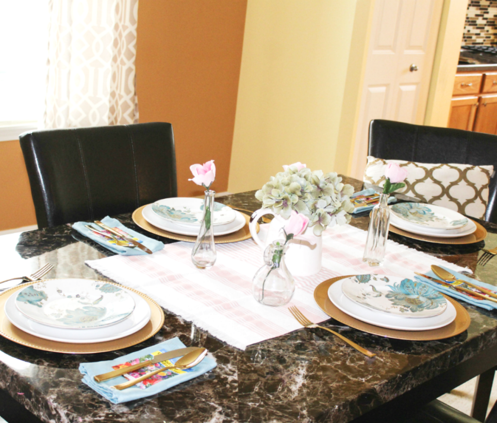 Spring dinning table and dinning room