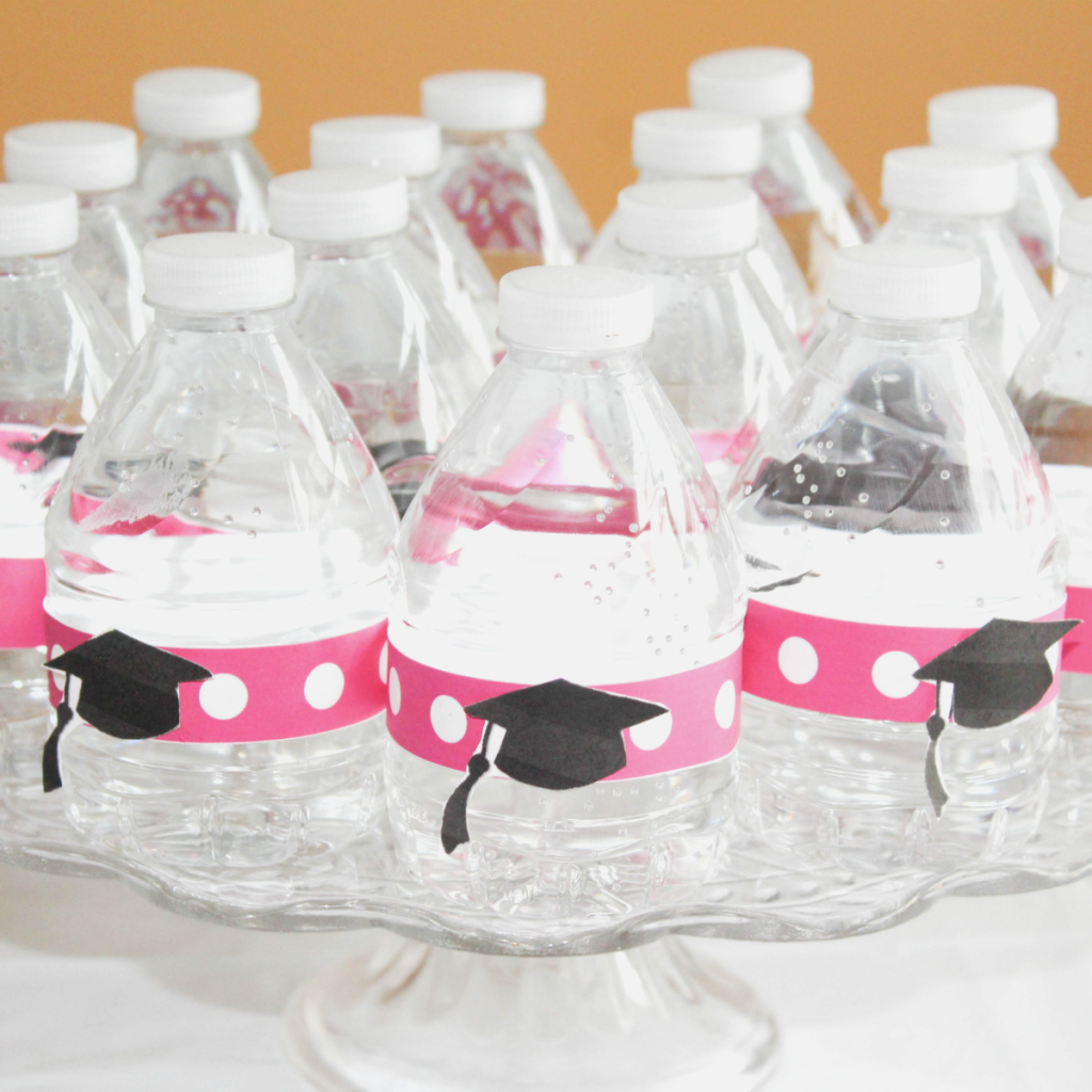 Kindergarten Graduation - DIY Water Bottle Tags - At Home With Zan