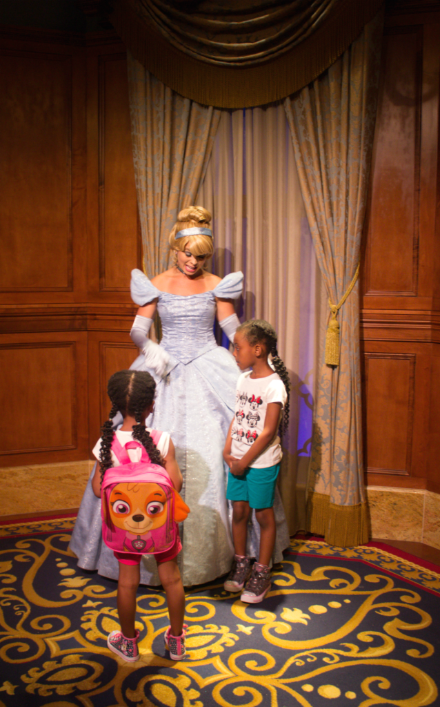 Orlando Vacation - Disney's Magic Kingdom - Cinderella and the Girls - At Home With Zan