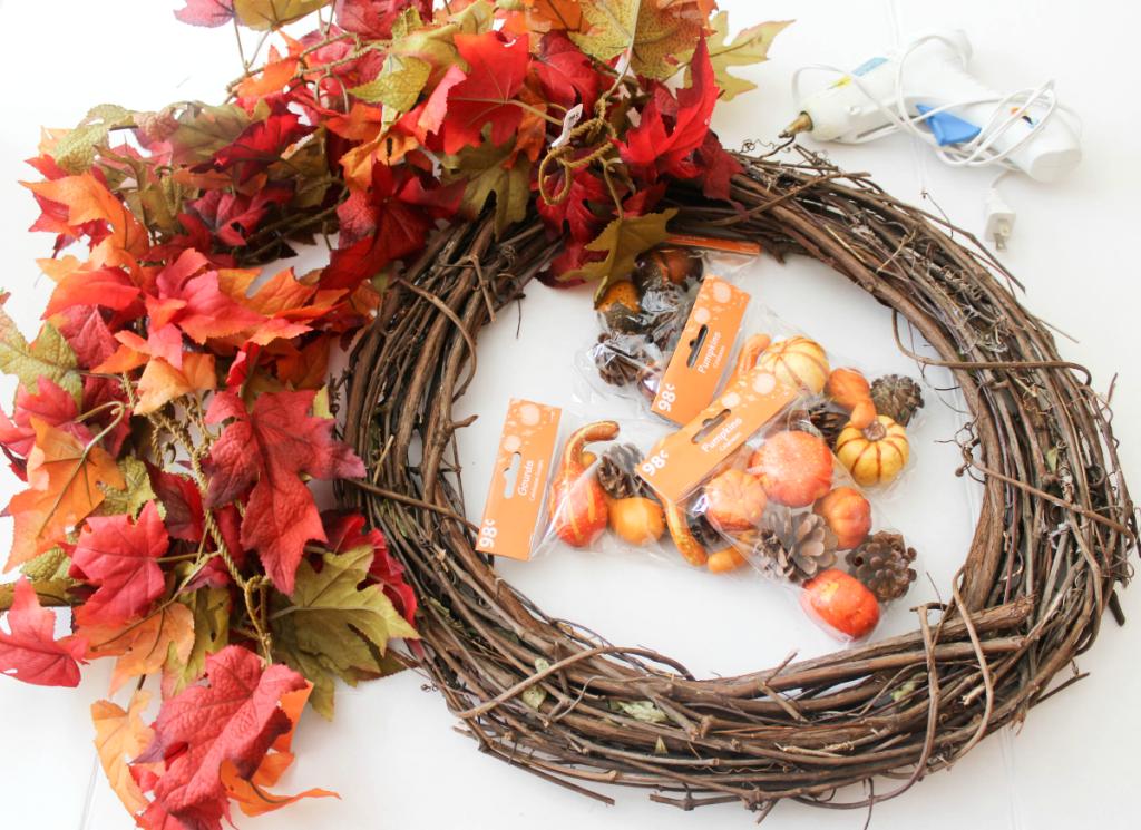 DIY Fall Wreath - At Home With Zan -