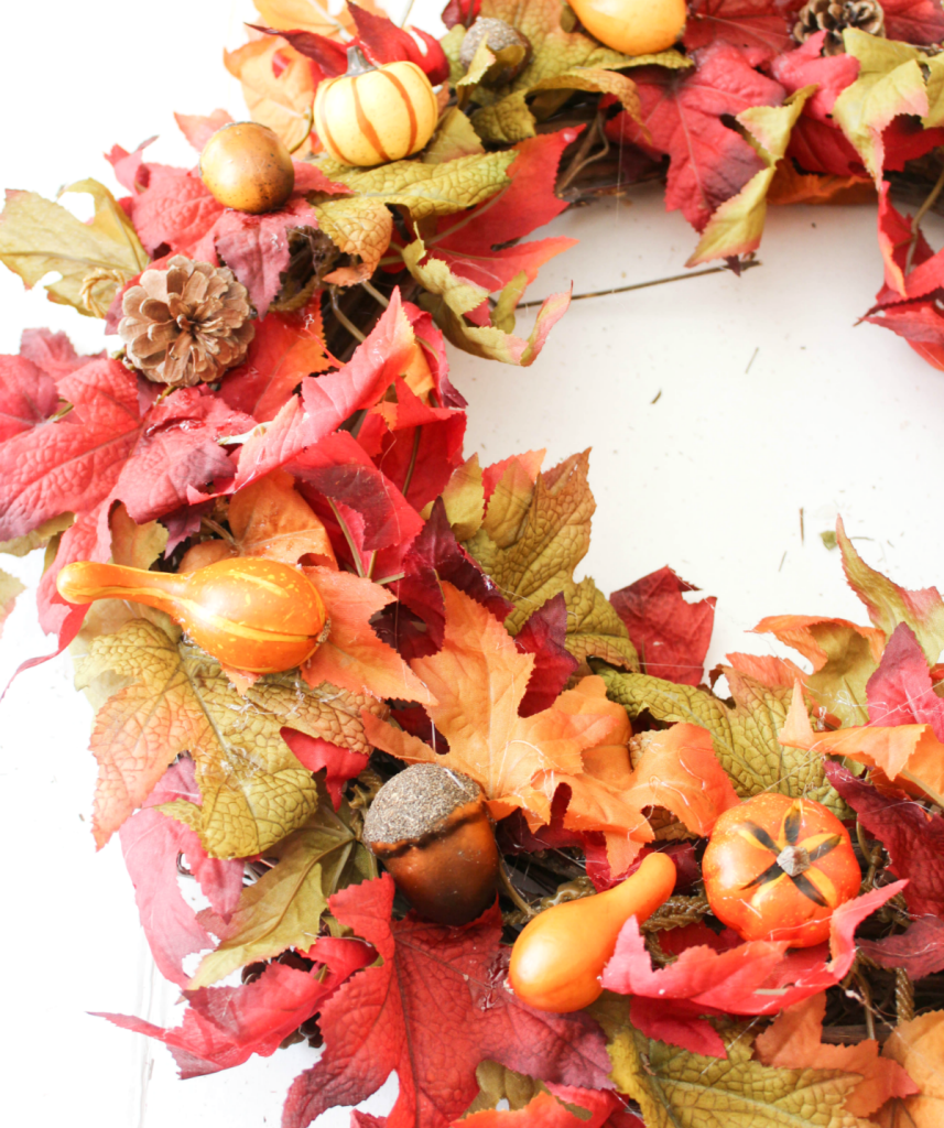 DIY Fall Wreath - Autumn Wreath - Front Door - Quick & Easy - At Home With Zan -