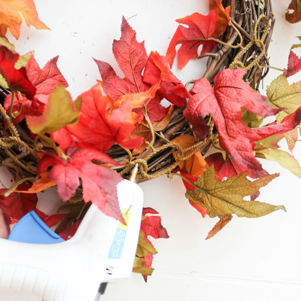DIY Fall Wreath - Quick & Easy - At Home With Zan -