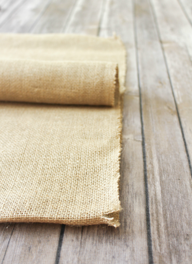 DIY Burlap Placemats - Cutting Burlap - At Home With Zan