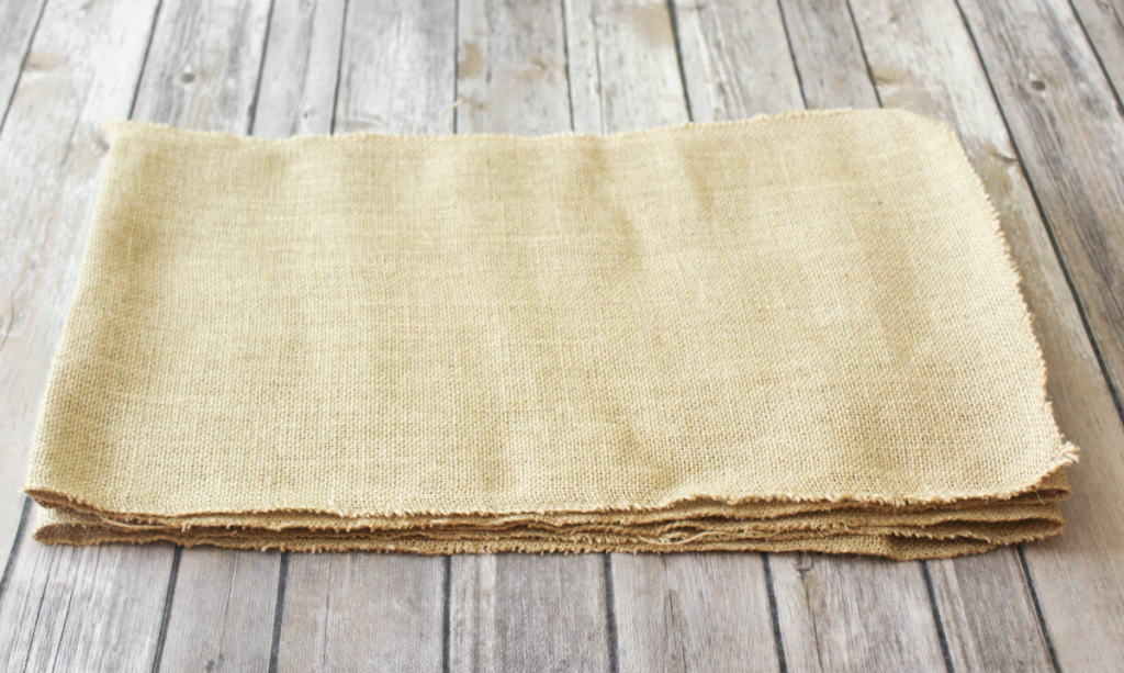 DIY Burlap Placemats - For Autumn - At Home With Zan