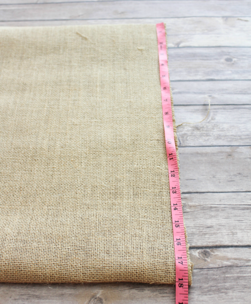 DIY Burlap Placemats - Measuring Mats - At Home With Zan