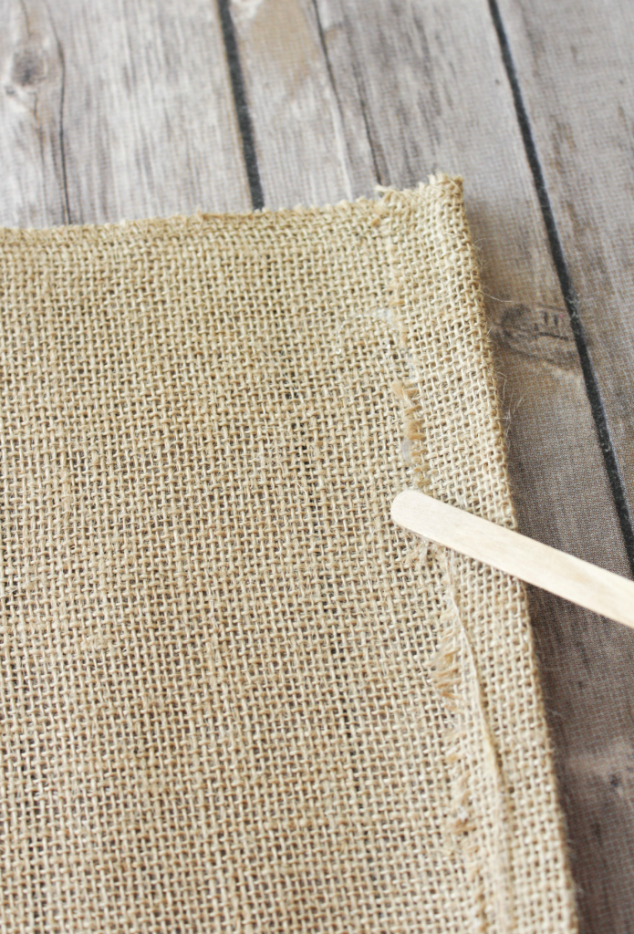 DIY Burlap Placemats - No Sew - At Home With Zan