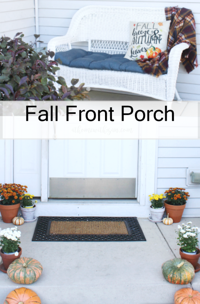 Fall Front Porch - Fall Porch Decor - At Home With Zan