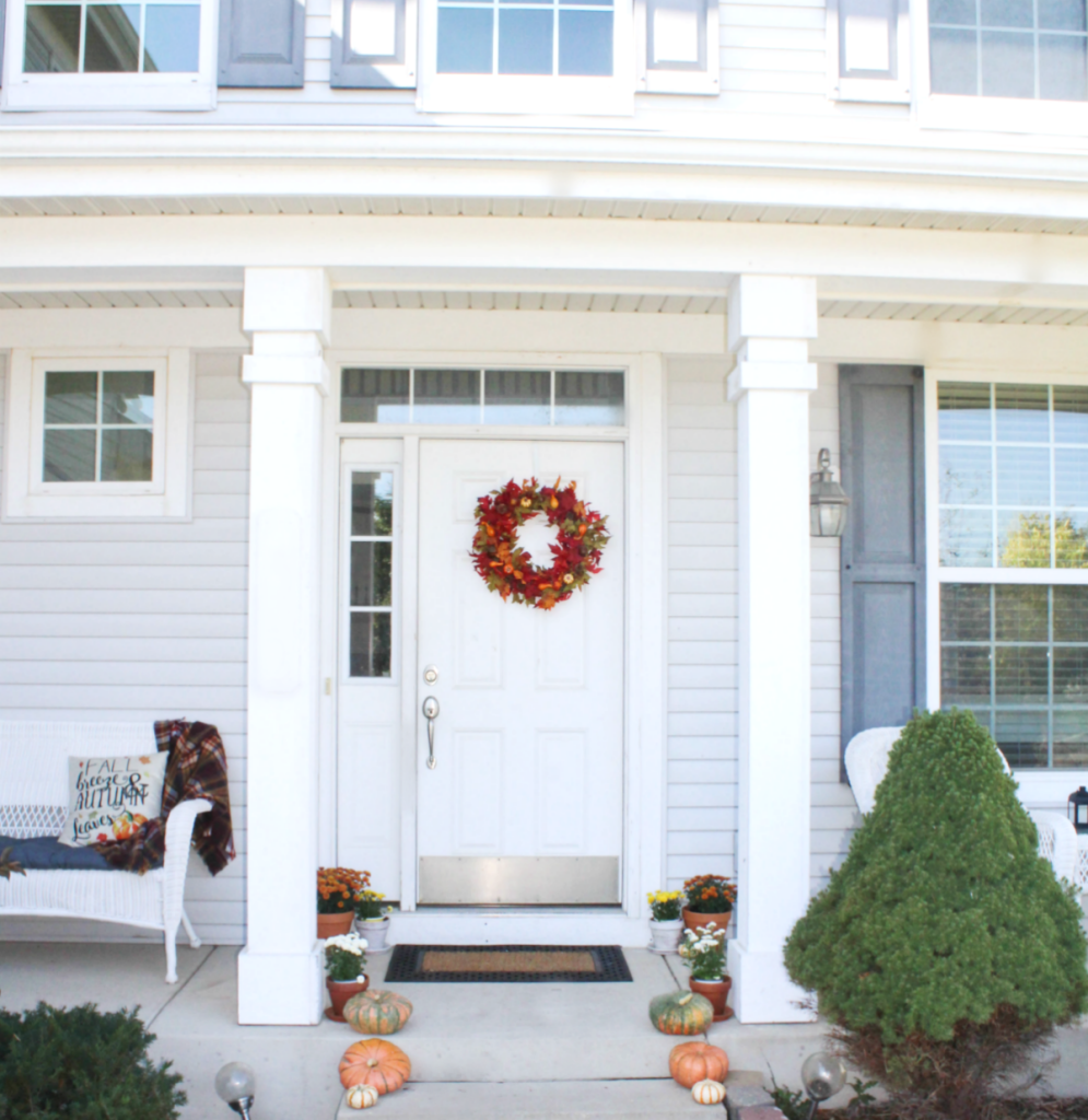 Fall Front Porch - Porch Decor - At Home With Zan