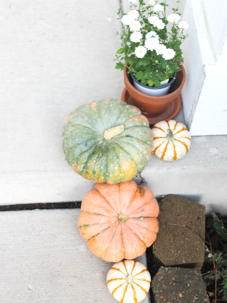 Fall Front Porch - Pumpkins - At Home With Zan -