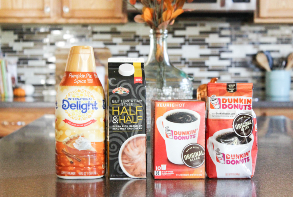 Fall Kitchen - Caramel Mocha Ingredients - Dunkin' Donuts Original Blend - At Home With Zan