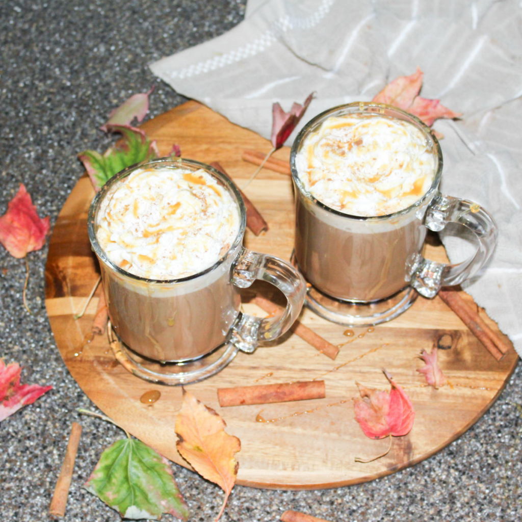 Fall Kitchen - Caramel Mocha Recipe - Dunkin' Donuts Coffee - Land O Lakes Half and Half Creamer - Toppings - At Home With Zan