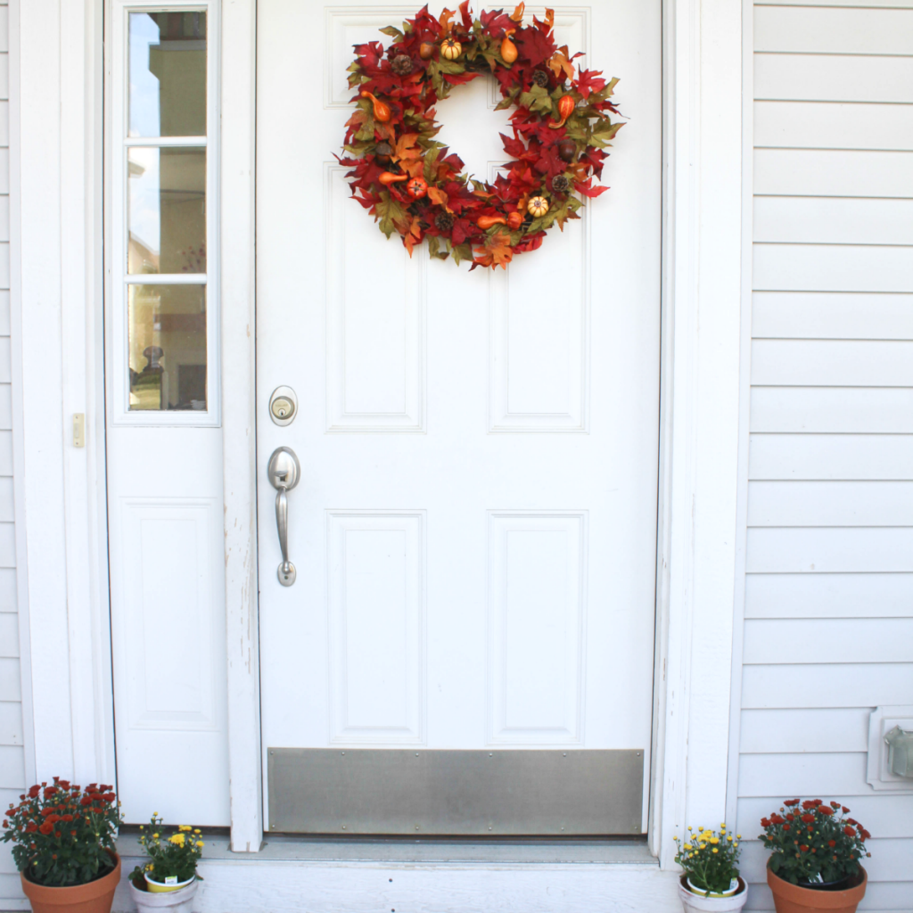 -Fall Wreath - Front Door Wreath - At Home With Zan-