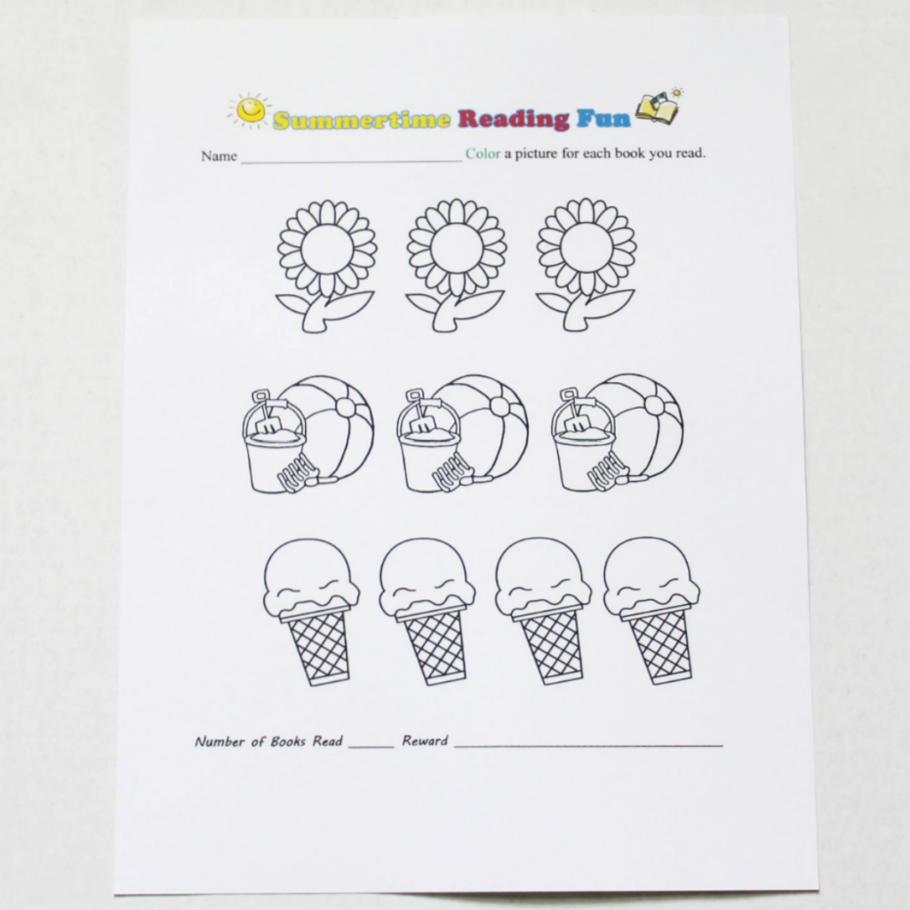 Summertime Reading Coloring Printable for Kids - At Home With Zan