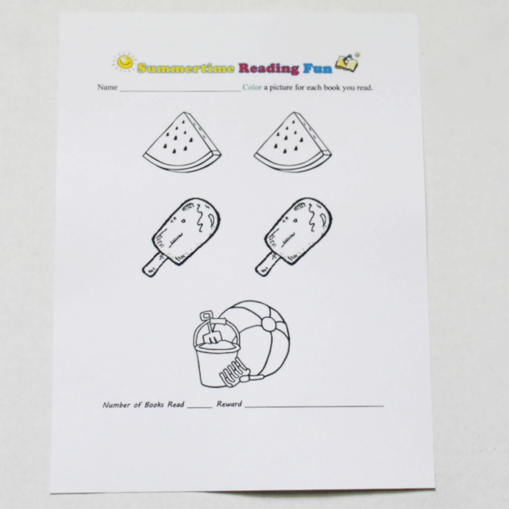 Summertime Reading Printable for Kids - At Home With Zan