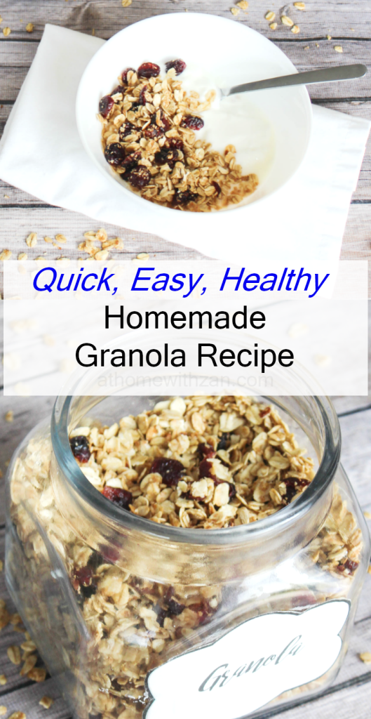 Homemade Granola Recipe - Quick - Easy - Healthy - At Home With Zan
