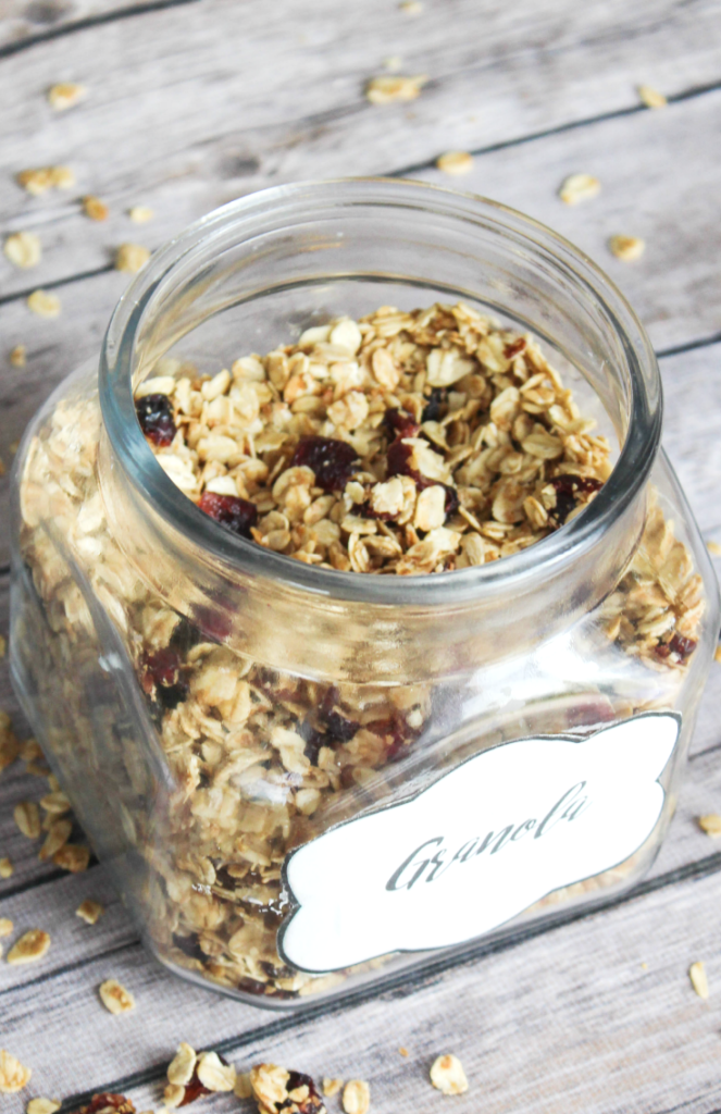 Homemade Granola - With Dried Cranberry - Kid Friendly - From At Home With Zan-