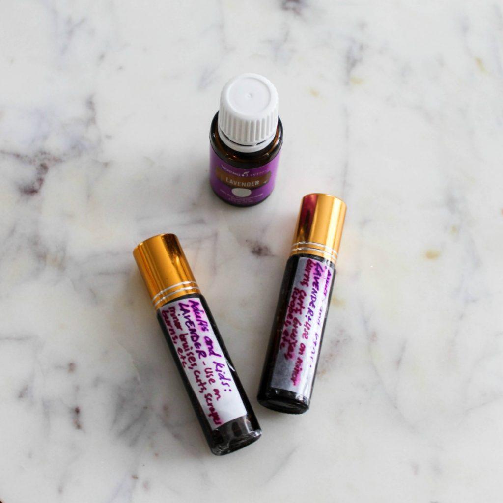 essential oils lavender roller bottles