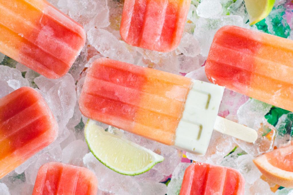 melon citrus popsicles