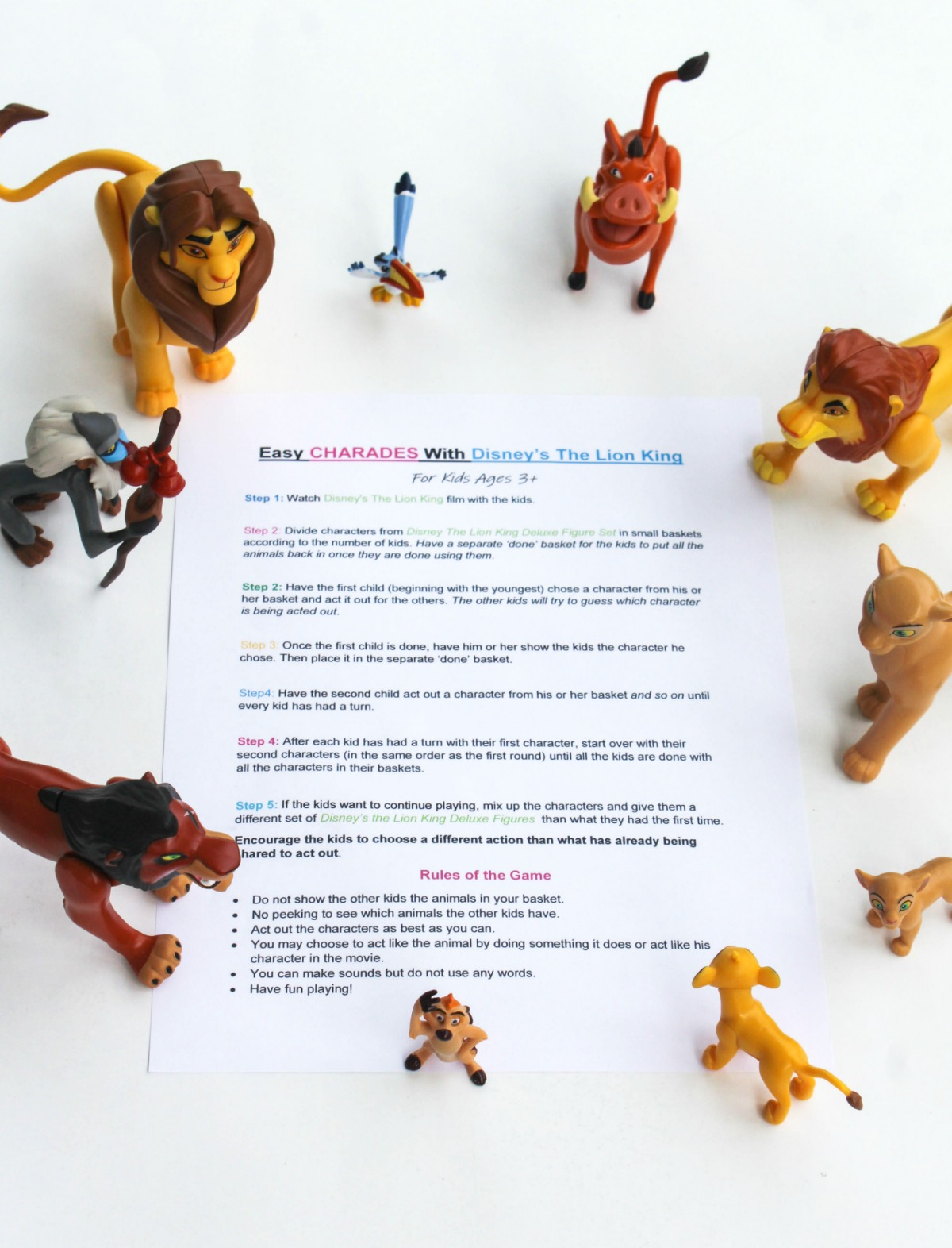 Disney's The Lion King - Game of Charades for Kids – At Home