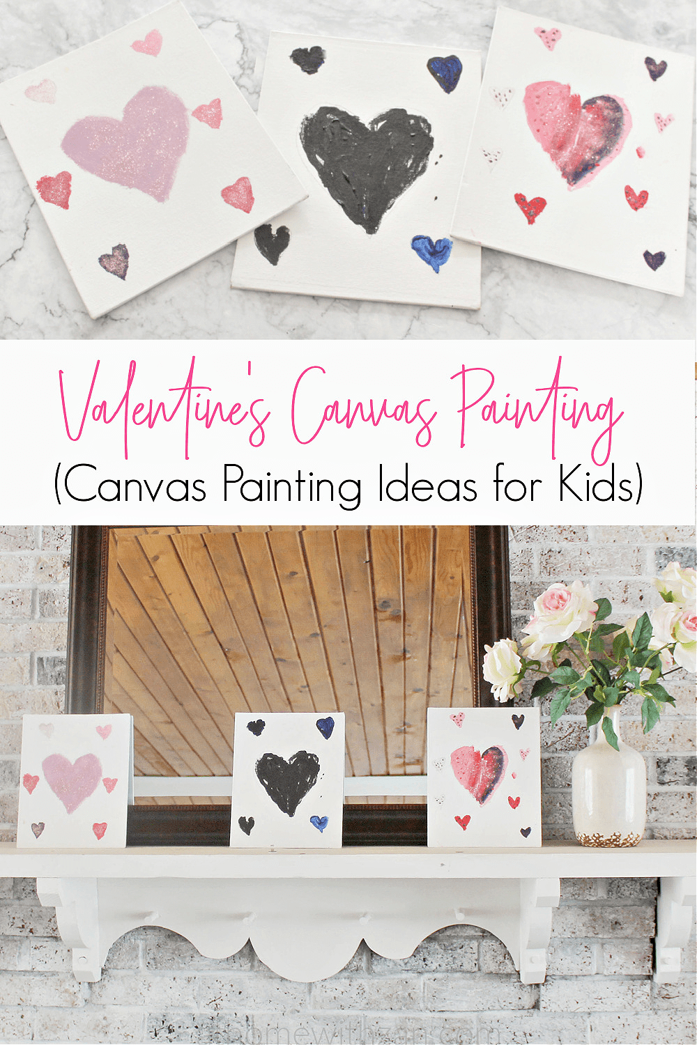 Valentine S Hearts Painting For Kids Canvas Ideas Activities Athomewithzan Com 7 At Home With Zan